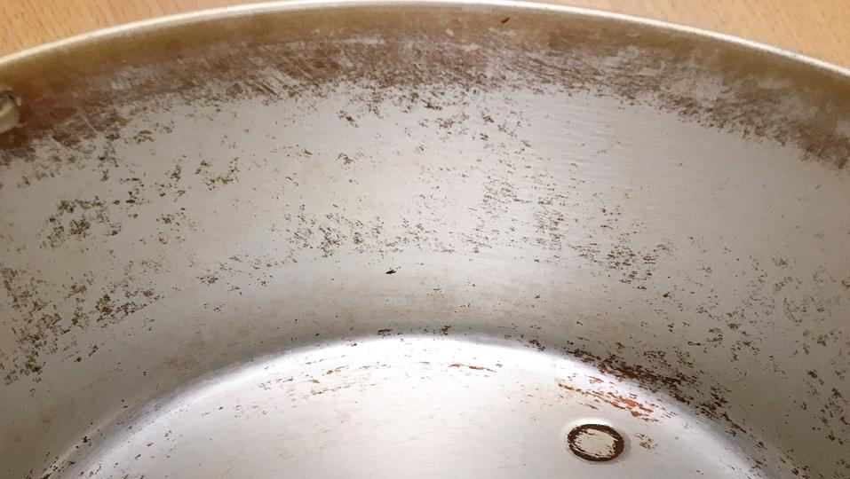 アルミ内鍋の焦げ