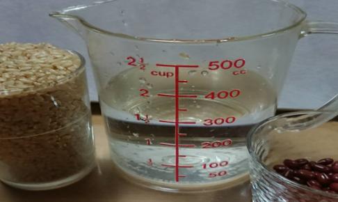 玄米小豆水の分量