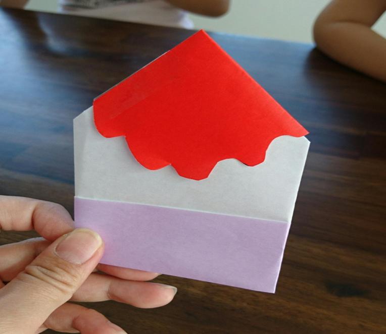 折り紙かき氷画像