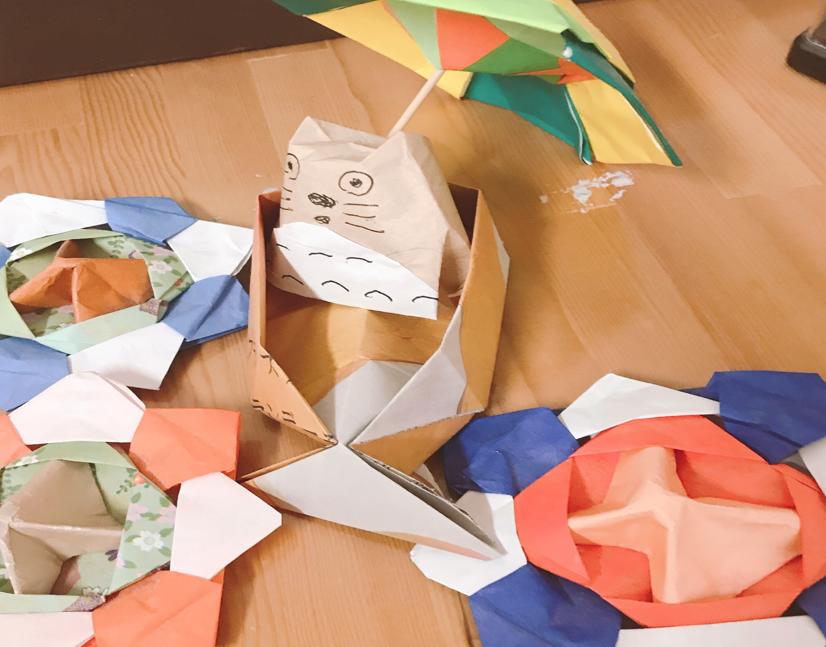 折り紙トトロ・傘・船・風車