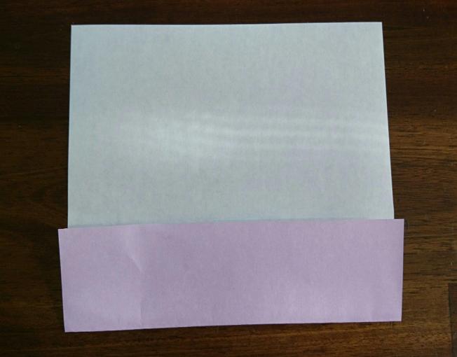 折り紙中心の上に折る画像