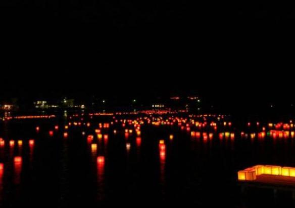 木崎湖灯篭流し