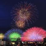 諏訪湖の花火画像