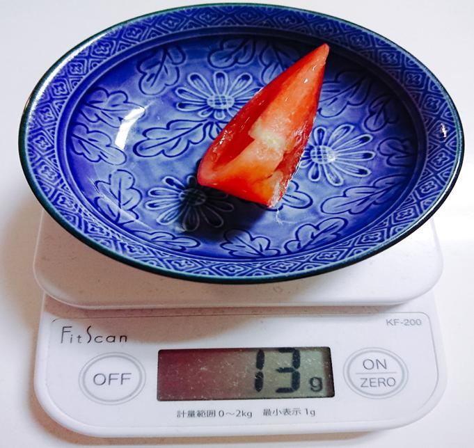 トマトを計る画像