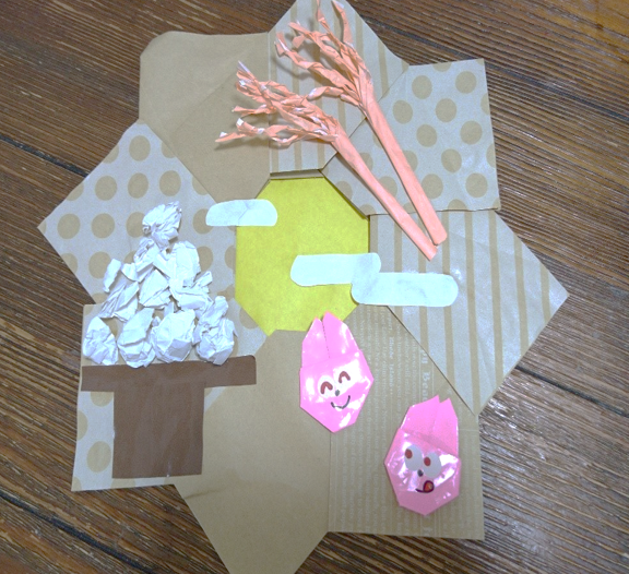 折り紙月見画像