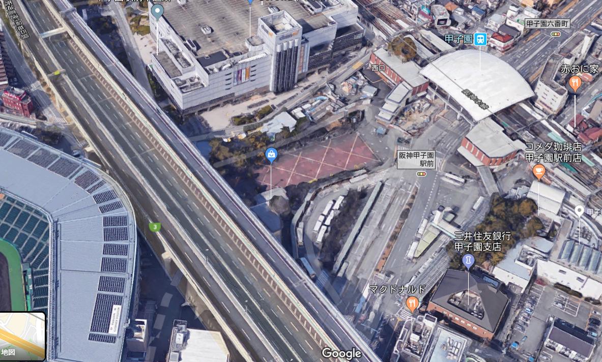 甲子園駅からチケット売り場写真