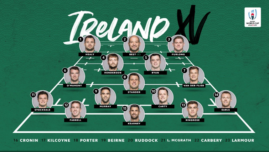 アイルランド選手