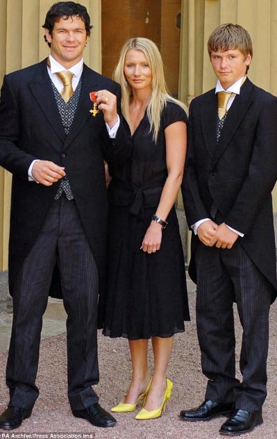 オーウェン選手の家族写真