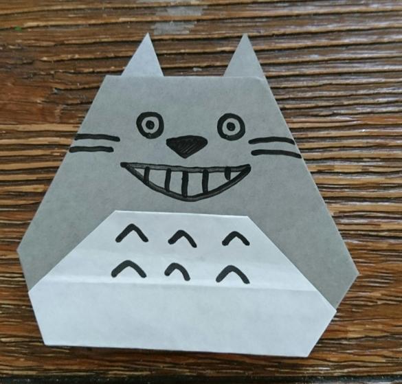 トトロ折り紙画像