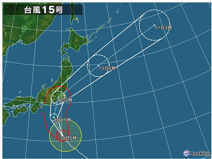 日本気象協会台風15号