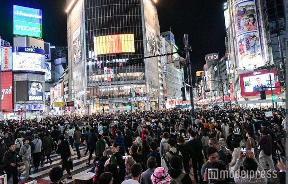 ハロウィン渋谷の様子