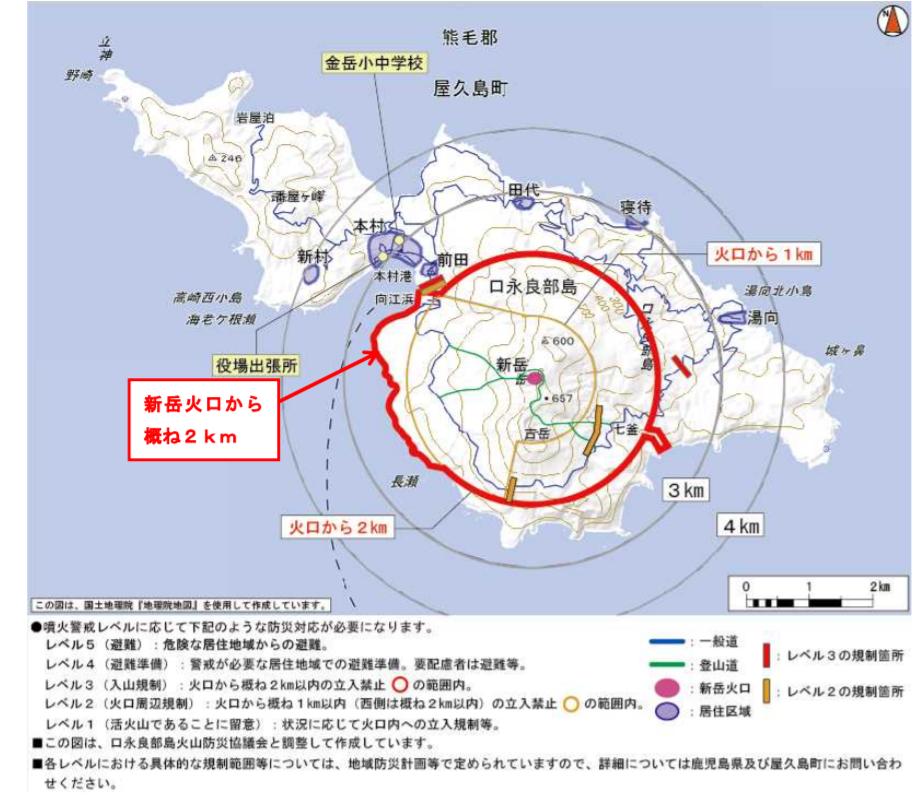 気象庁口永良部島図表資料