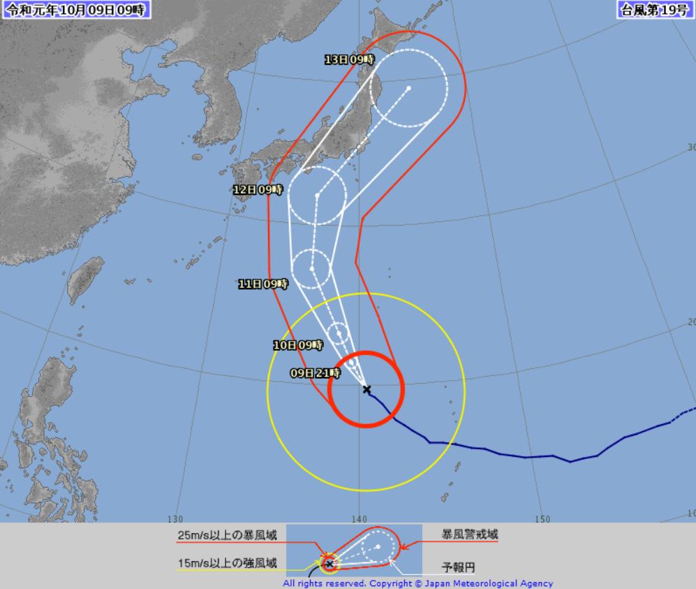 気象庁台風19号