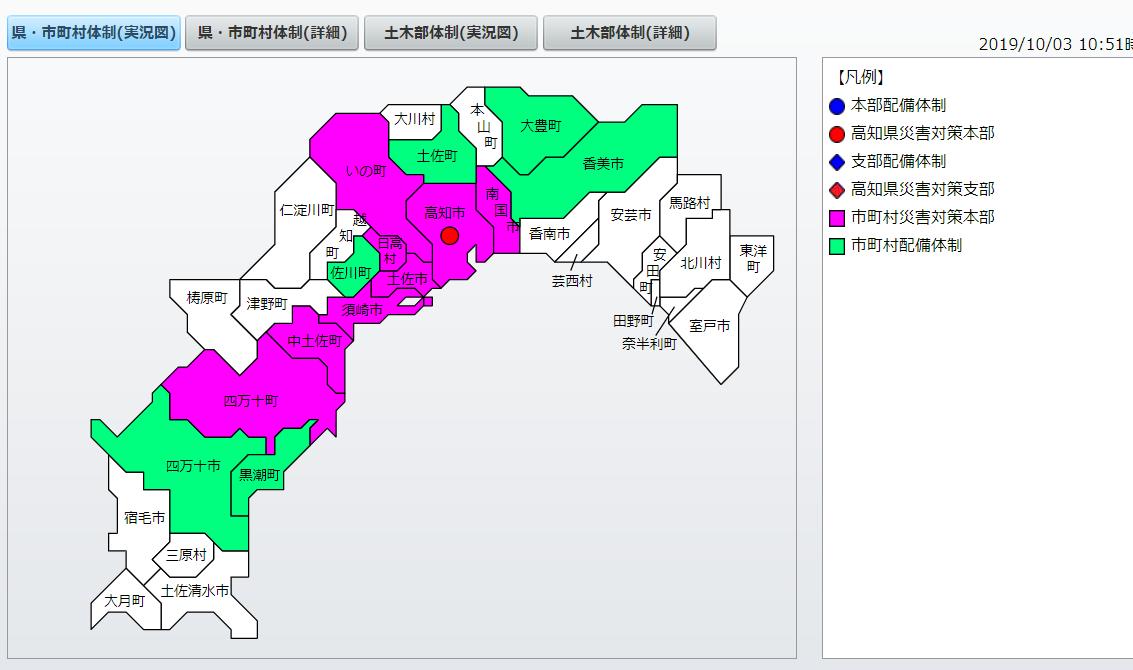 高知県警戒体制