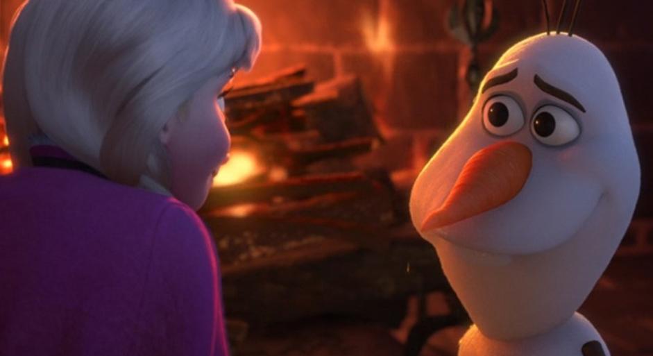 オラフ暖炉