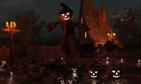 ハロウィンと城