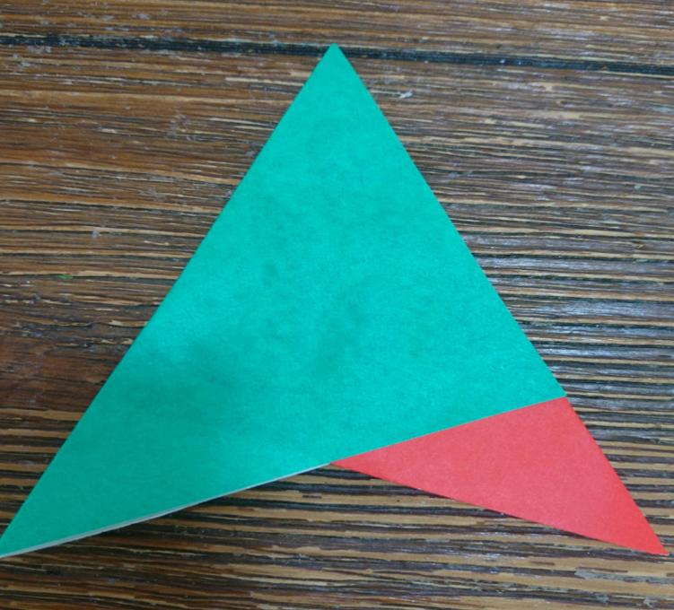 三角の頭をあわせる