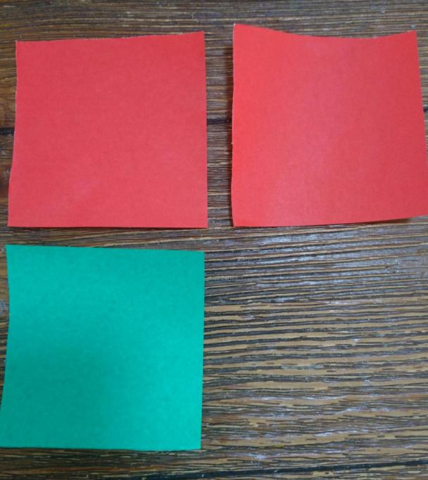 折り紙3枚