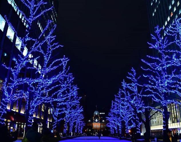 札幌市北3条広場(アカプラ)会場色変化