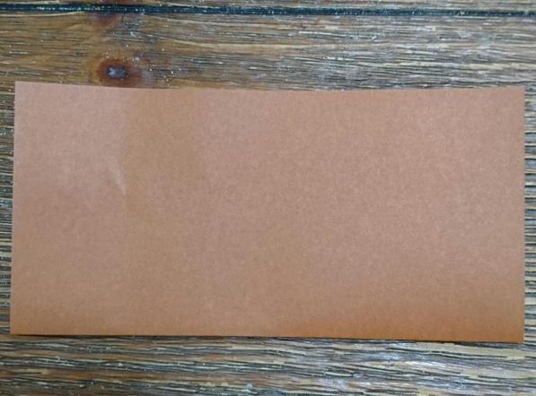 茶色折り紙四角におる