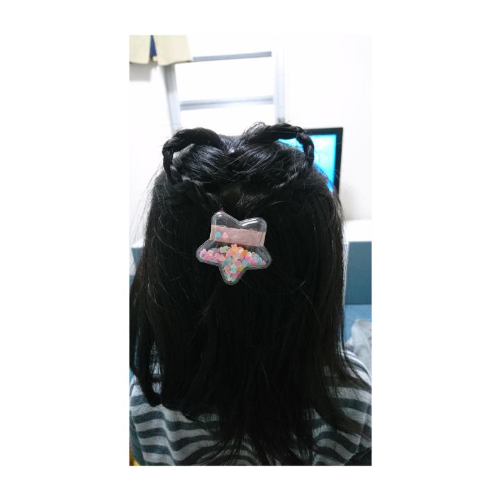 ハート髪型