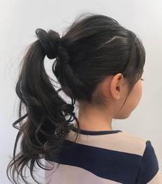 ポニーテールヘア